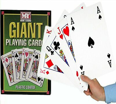 A4 Giant Jumbo Playing Cards Family Fun BBQ Games Party Deck Of 52 • 9.99£