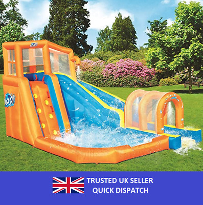 Bestway H2O Go Hurricane Tunnel Blast Inflatable Water Park Lay-Z-Spa For Kids • 489£