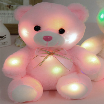 Pink Teddy Bear One Size Soft Cuddly Glow Light Up Colour Changing • 7.99£