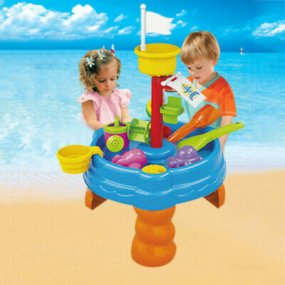 Sand & Water Table Watering Can & Spade Kids Outdoor Home Garden Sandpit Toy Set • 37.43£
