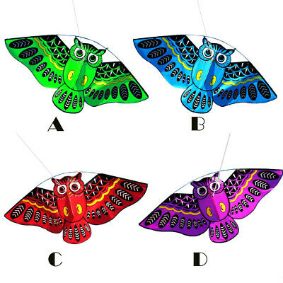 3D Owl Flying Kite Kids' Funny Flying Activity Game With Tail Outdoor UK • 6.57£
