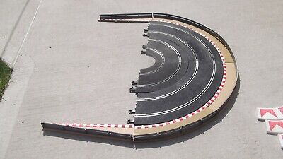 Scalextric Classic 4lane Curves With Track Borders /barriers • 22.95£