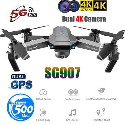 SG907 GPS Drone With 4K HD Dual Camera Wifi FPV Foldable RC Quadcopter Drone UK • 106.36£