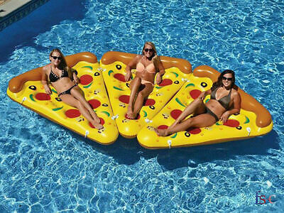Beach Inflatable Pizza Slice Fun Float Lounger Swimming Pool Air Tubes Water Toy • 11.39£