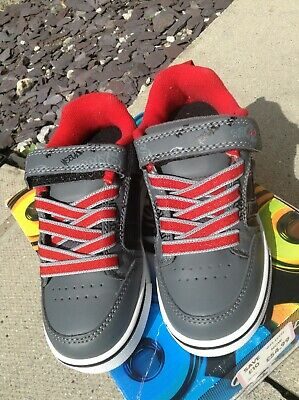 Brand New Boys Kids Heelys Size12 Black/grey/ Red Light Up Soles Half Price New • 24.99£