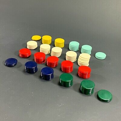 LOT X191 CATALIN? BAKELITE? POKER CHIPS CARD GAME PIECES CRAFT JEWELLERY DIY • 41.22£