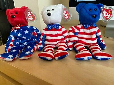 Liberty (Red, White & Blue) TY Beanie Babies MWMTS • 11.50£