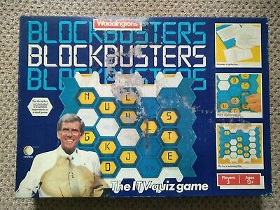 1982 Blockbusters Quiz Board Game From Waddingtons. Complete & Good Condition. • 9.99£