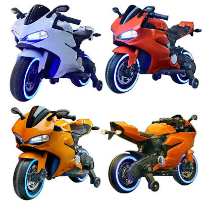 Kids Battery Electric Racing Motorbike Ride On Motorcycle Toy Bike Children Gift • 99£