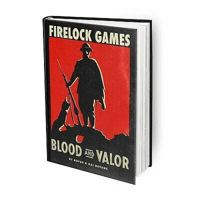 Blood And Valor Rulebook Firelock Games Brand New BV_0001 • 30.60£