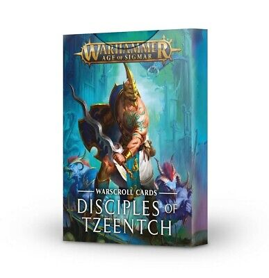 Warscroll Cards: Disciples Of Tzeentch Warhammer Games Workshop New 60220201010 • 13.50£