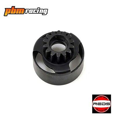 Reds Racing 14T Vented Clutch Bell RC Nitro 1/8 Buggies REDMU0601R • 18.99£