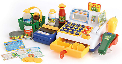 Toyrific Cash Register Till Pretend Shopping Toy With Play Food And Play Money • 35.59£