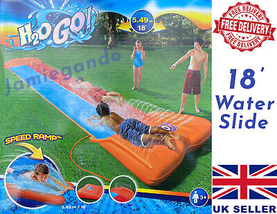 ☀️Bestway Inflatable Double Water Slide With Speed Ramp ☀️Kids Fun Family Summer • 33.87£