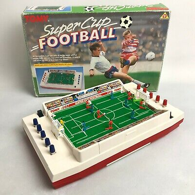 TOMY Super Cup Football Battery Operated Retro Tabletop Electronic Game 141223 • 36£