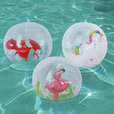 Inflatable Panel Beach Ball,Flamingo Unicorn Crab Water Ideal For Beach/Pool Toy • 2.69£