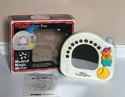 Vintage 1991 Tomy First Fun Musical Magic Mirror Boxed W. Original Instructions • 22.50£