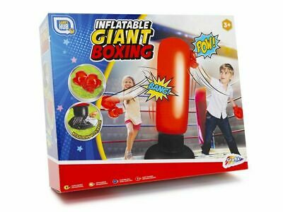 Childrens Kids Inflatable Giant Boxing Punch Bag And Gloves Set Outdoor Fun 3+ • 8.99£