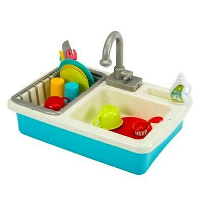 Wash Up Kids Toy Role Play Kitchen Sink Real Tap With Running Water 20 Pieces • 24.99£