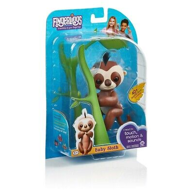 Fingerlings WowWee Baby Sloth Kingsley 40+ Sounds Touch Motion Interactive Pet • 12.95£