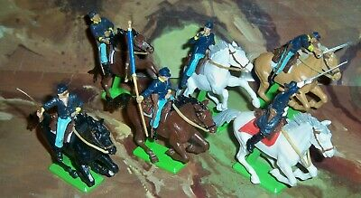 Britains Deetail ACW Union Cavalry Figures On Mounted Horses Set 7449 • 52.75£
