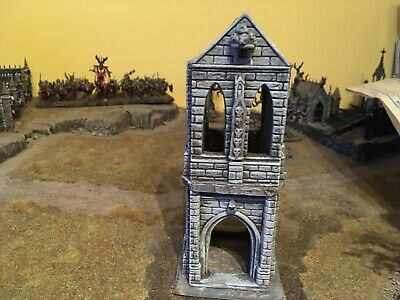 Gothic Tower Scenery  Bargain!  Age Of Sigmar AOS • 0.99£