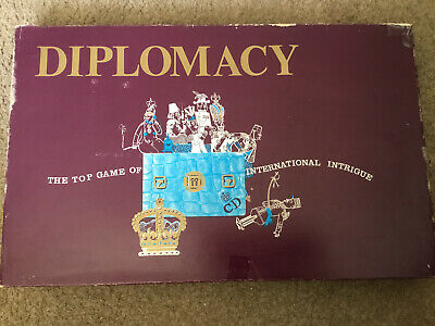 Vintage Games DIPLOMACY Board Game 100% COMPLETE, By. Avalon 1976 • 9.95£