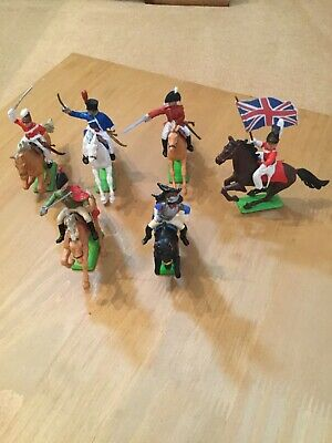 Britains Deetail Napoleonic Waterloo Modified British And French Calvary X6 • 12.50£