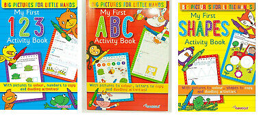 First ABC 123 Writing Activity Books Shapes MAths & English Book • 3.49£