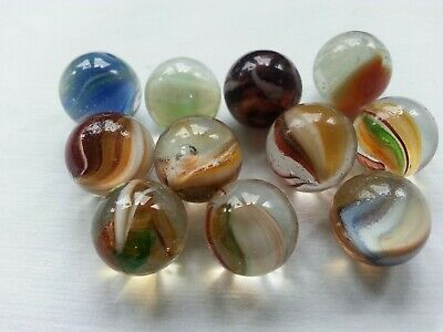 Vintage Glass Marbles - Small Lot X 11 - Selection 2 • 5.50£