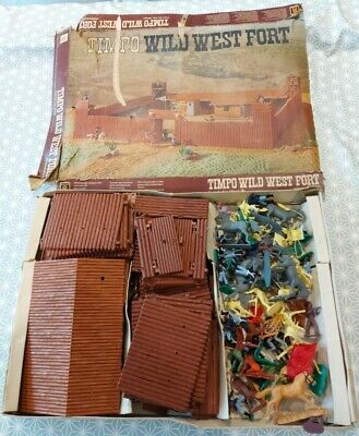 Original Timpo Wild West Fort 1960s Vintage Toys Big Bundle With Extras Britains • 75£