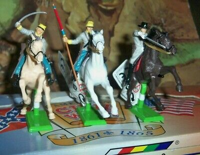 4 X Britains Deetail American Civil War (ACW) Mounted Confederate Soldiers  • 29.75£