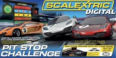 Scalextric C1223 1:32 Scale Triple Cup Digital Race Set With Pit Stop Lane Game • 83.11£