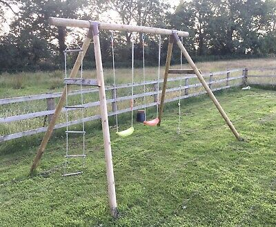 Wooden Childrens Garden Multi Swing Set • 50£
