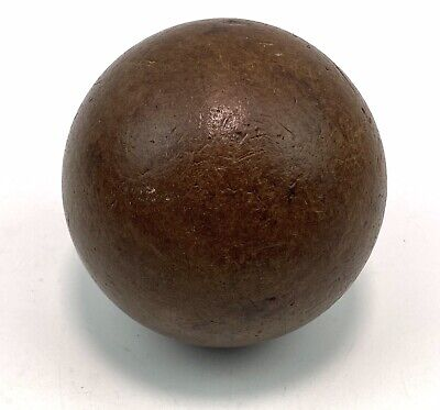 Antique French Lignum Vitae Wooden Skittle Alley Ball Games Boules • 39.95£