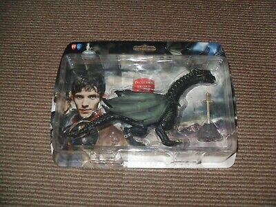 The Adventures Of Merlin Dragon Figure With Sword In The Stone Ltd Edition - NEW • 12.50£