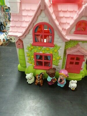 ELC Happyland Cherry Lane Cottage Tree House With Figures, Animals & Furniture • 22£