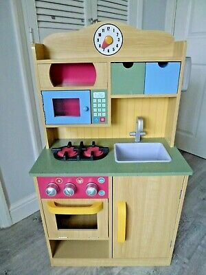 Teamson Kids Wooden Pretend Play Toy Kitchen With Role Play Phone • 49£
