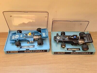 SCALEXTRIC F1 SLOT CARS  X 2 BOXED,  JPS  & ELF TYRRELL  • 15.98£