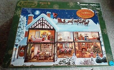 Falcon 1000 Piece Jigsaw Puzzle 'The Night Before Christmas' Complete • 3£