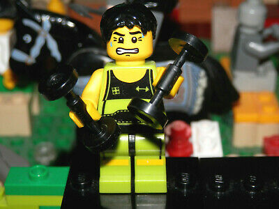 Lego Minifigures - Series 2 - The Weightlifter - Lego Mini Figure With Base • 2.85£