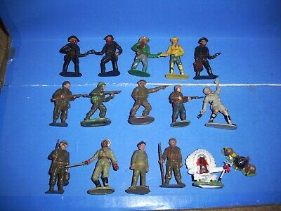 15 Plastic Toy Soldiers,  Britains, Crescent, Una And Others • 9.99£