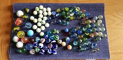 Collection Job Lot Of Marbles   Various Sizes   123 In Total • 1.10£