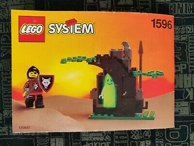 Vintage Lego System 1596 Castle Knight Ghostly Hideout Instruction Manual Only  • 4£