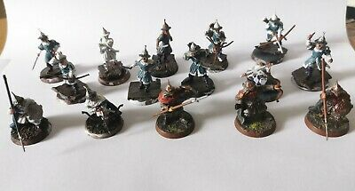 Warhammer LOTR Hobbit Laketown Guard Warband + Warrior Of Dale Middle Earth • 24.99£