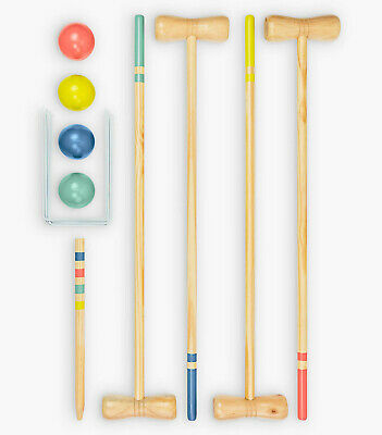 Croquet 4 Player Wooden Set By Professor Puzzle Family Garden Sports Games • 49.99£
