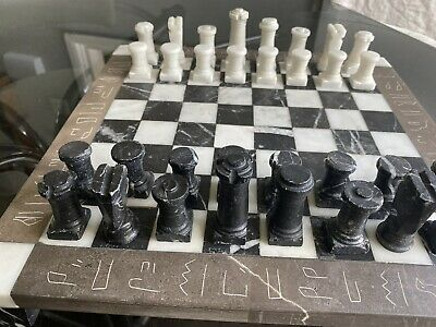 Marble Chess Set Hand Carved • 31£