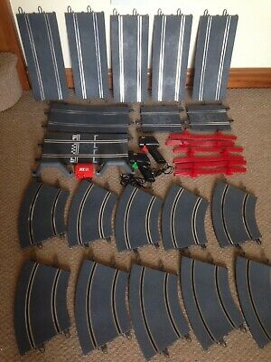 Scx Scalextric Track Job Lot Plus Hand Throttles And Barriers Etc • 9.95£
