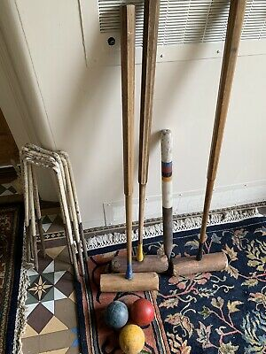 Vintage Quality Croquet Part Set • 45£