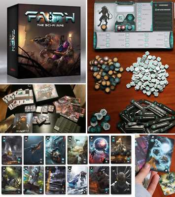 Faith The Sci-fi Rpg - Complete Game Box Set Not Sealed Roleplaying Roleplay New • 24.99£